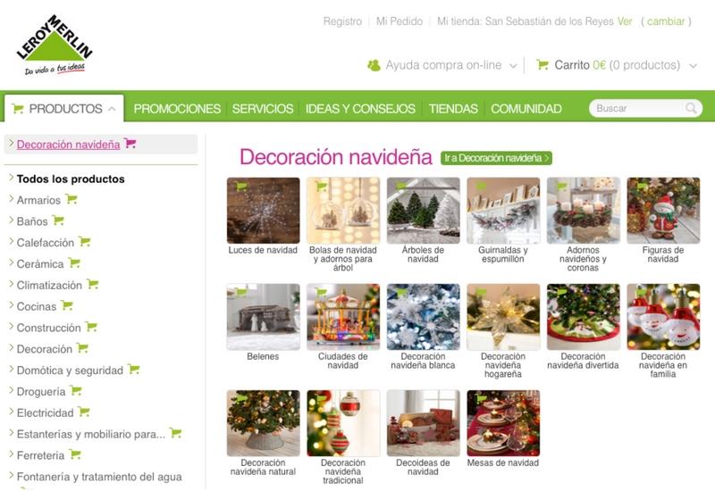 Portada Leroy Merlin web decoracion Navidad