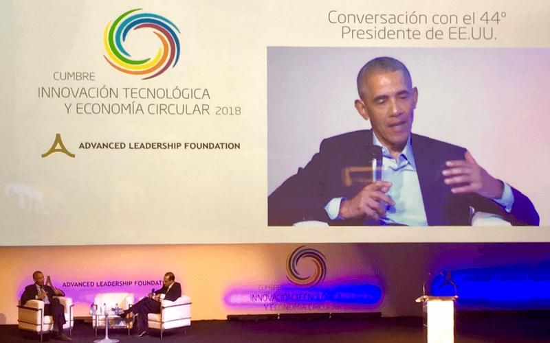 Barack Obama en la cumbre Advanced Leadership Foundation en Madrid - Tulpik, ferretería alquiler de productos