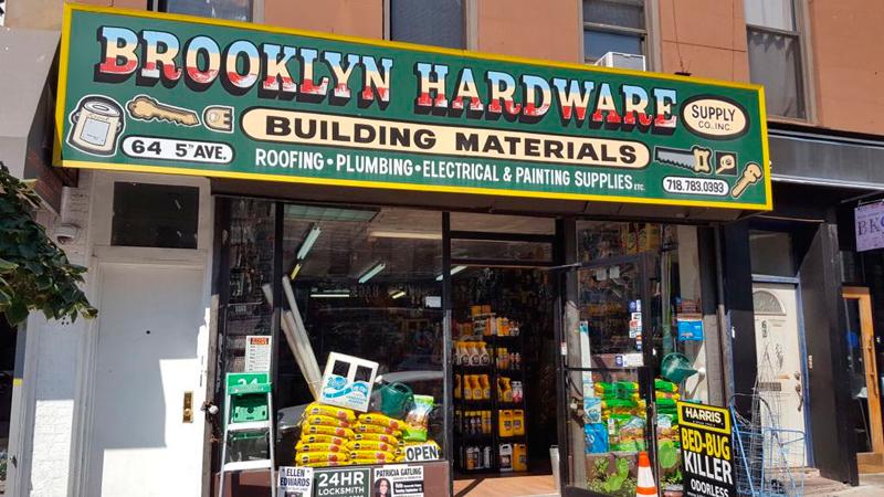 Una de las ferreterías que hay en Nueva York: Ferretería Brooklyn.