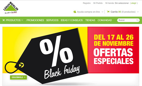 Black Friday 2017 de Leroy Merlin