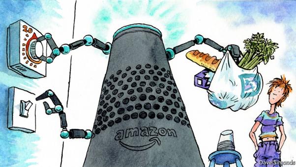 Tecnología: Caricatura del asistente de Amazon