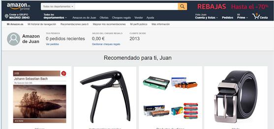 Amazon sabe mucho de nosotros