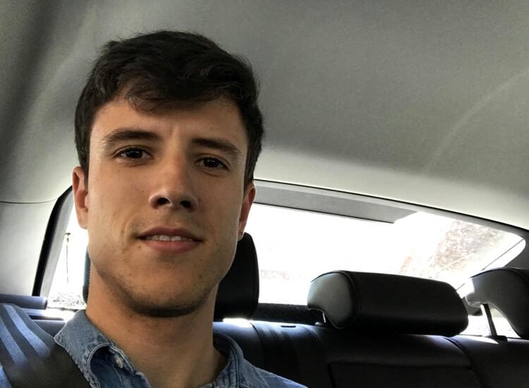 Borja Fernández de Handfie viajando en Uber