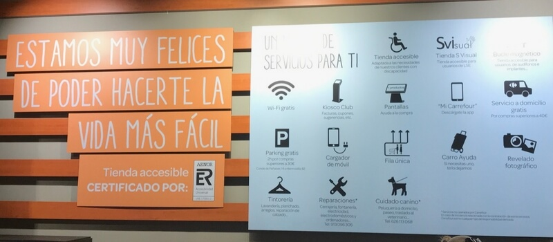 Servicios Carrefour conde de peñalver Madrid