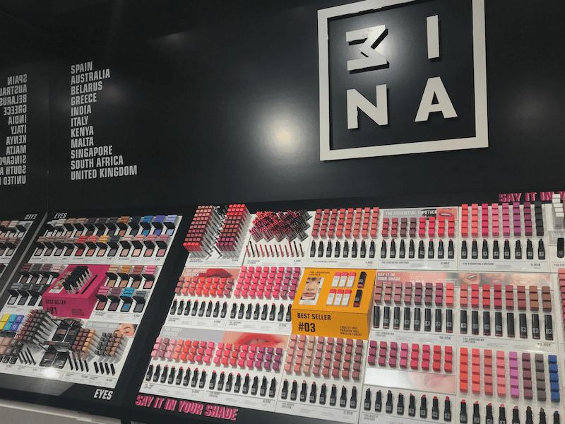 3INA, tienda de maquillaje en El Corte Inglés de Goya, Madrid