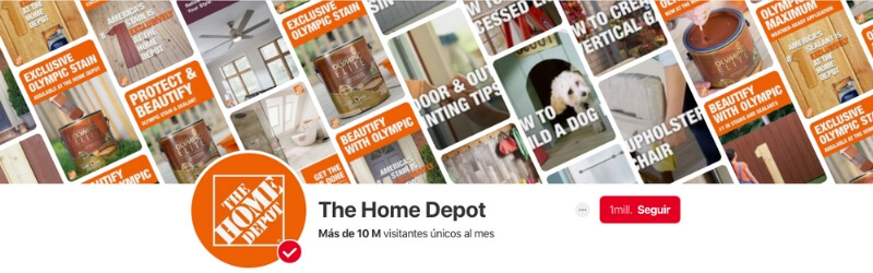 Perfil Home Depot Pinterest