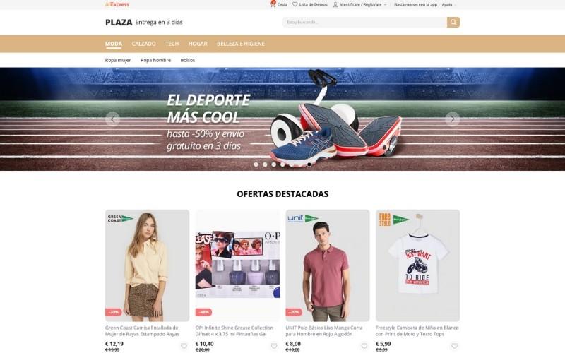 Plaza, entrega en 3 días en Aliexpress. Para vendedores españoles.