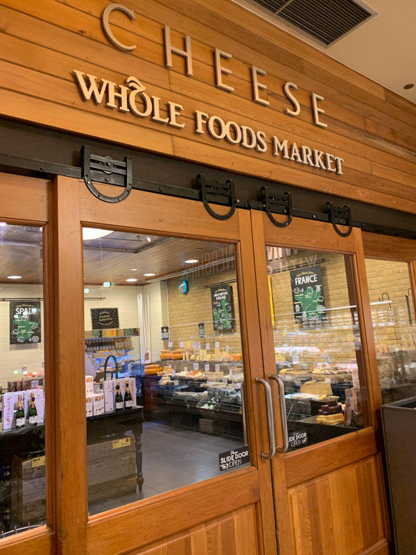 Mercado de quesos en Whole Foods