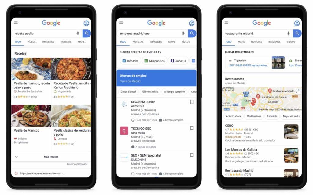 Fragmentos enriquecidos SEO Google 2020