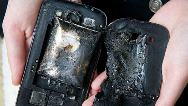 Bateria de ion-litio tras una explosion