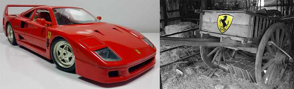 Ferrari y la carne.