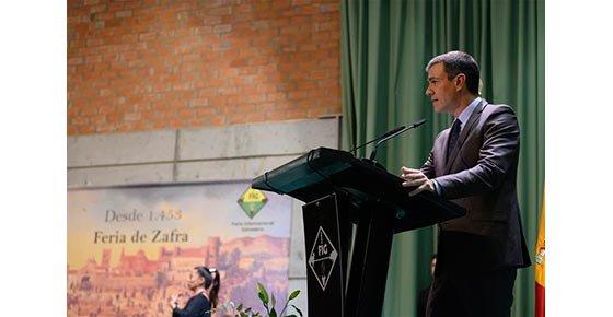 Pedro Sánchez y el Jamón: serrano e ibérico.