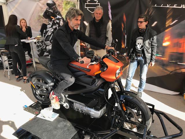 Moto eléctrica de Harley Davidson.