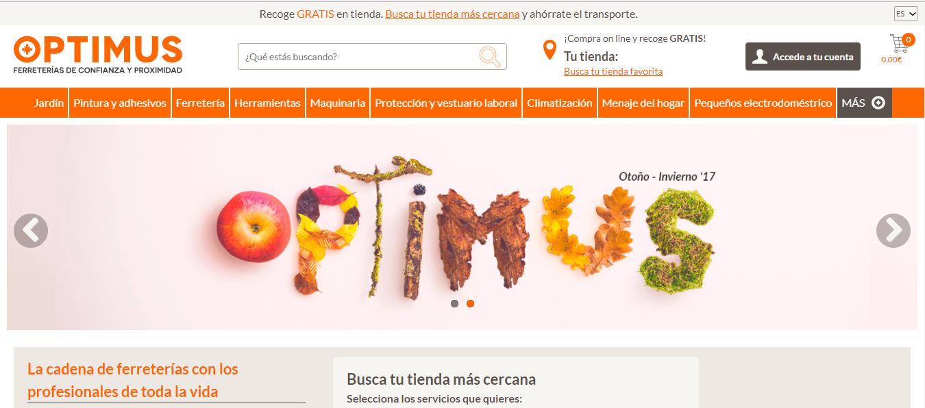 optimusferreteria.com , la web de la cadena Optimus, se pone en marcha en febrero de 2018