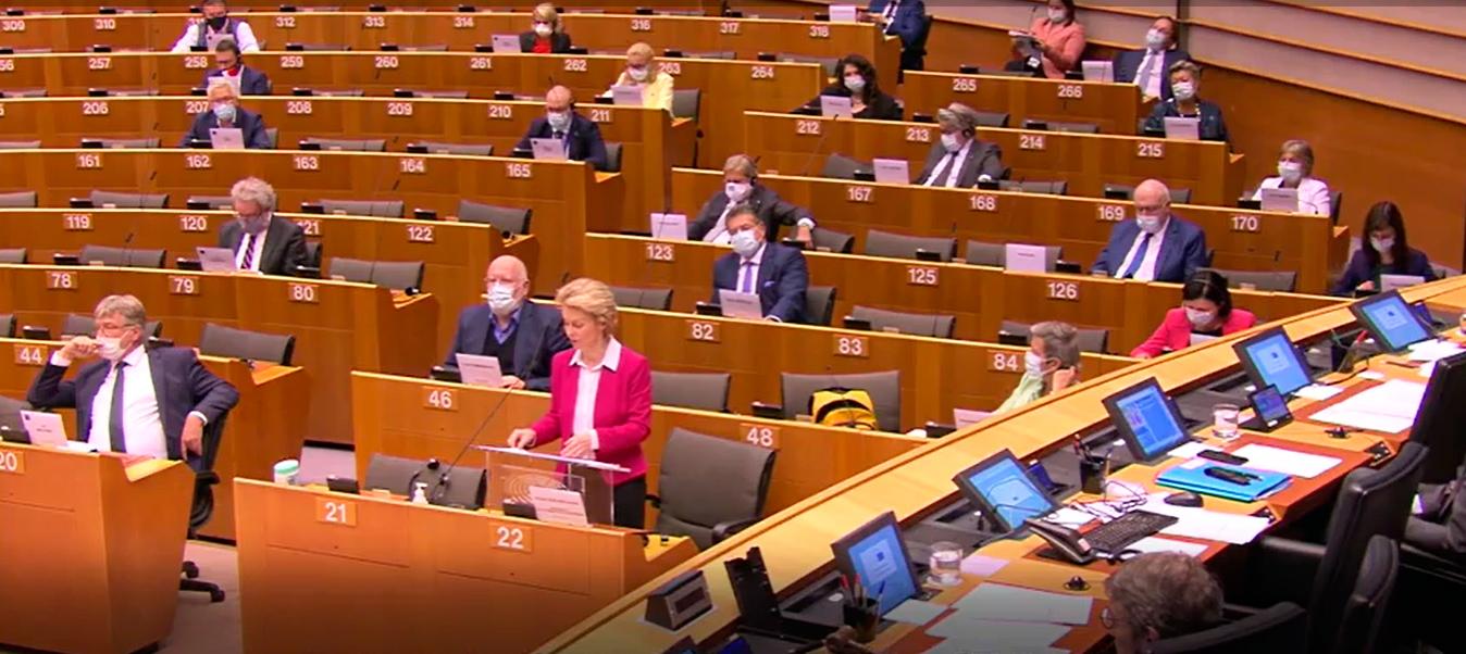 En el Parlamento Europeo se presentó el programa de reconstrucción Nex Generation EU.