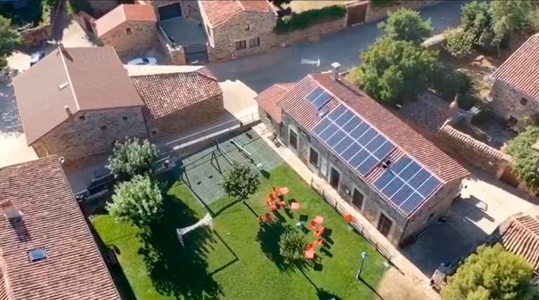 Comunidad energética rural en un pequeño municipio de Soria.