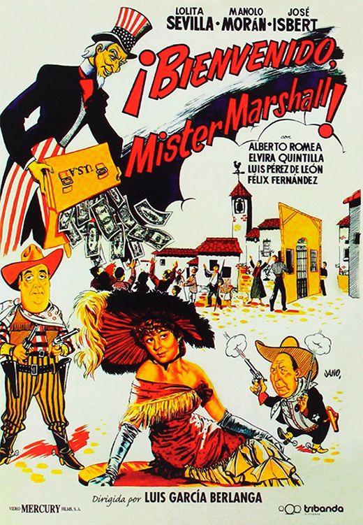 Cartel publicitario de Bienvenido Míster Marshall.