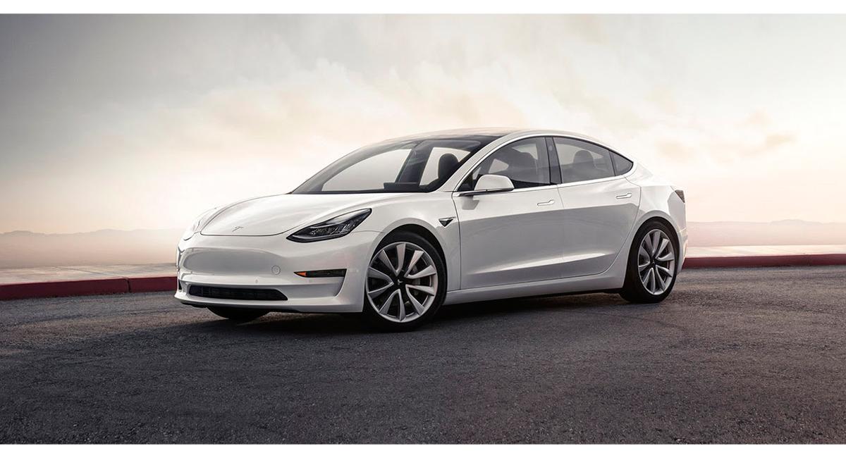 Vehículo eléctrico Model 3 de Tesla.